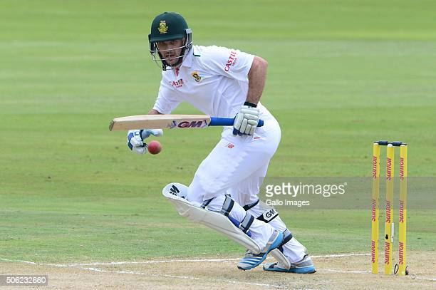 Stephen Cook of the Proteas celebrates his 50 runs during day 1 of the 4th Test match between South Africa and England at SuperSport Park on January...