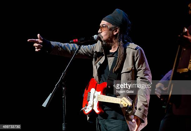 Stephen Coore of Third World performs during The Wailers 30th Anniversary Performance at The Apollo Theater on November 29 2014 in New York City