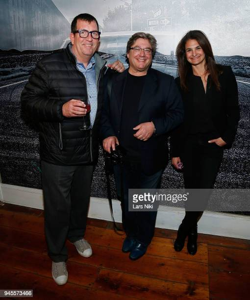 Stephen Costello Alan Feinstein and JL Art Advisory Jessica Levy attend the Sold Out Art Auction To Benefit Camp For Children With Cancer on April 12...