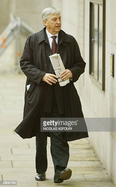 Stephen Coward QC representing Ian Huntley arrives at the Old Bailey courthouse 12 December 2003 in London as the jury hearing the Soham trial is due...