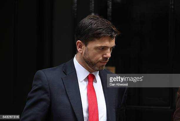 Stephen Crabb Secretary of State for Work and Pensions leaves Downing Street following a cabinet meeting on June 27 2016 in London England British...