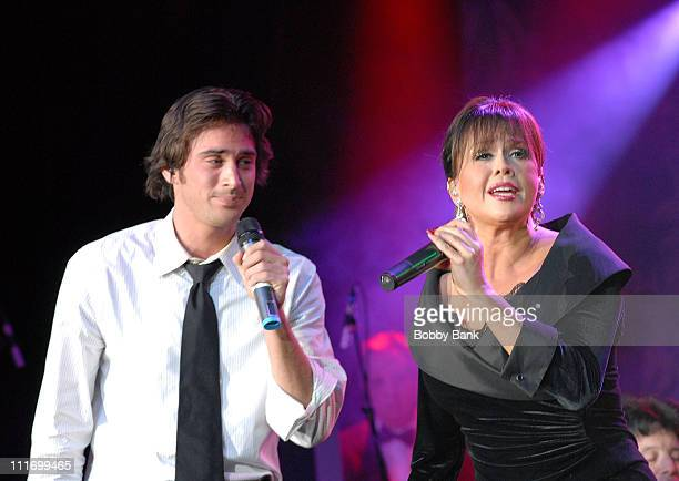 Stephen Craig Jr and mother Marie Osmond perform together at the Marie Osmond's Magic of Christmas show at Trump Marina December 1 2007 Atlantic City...