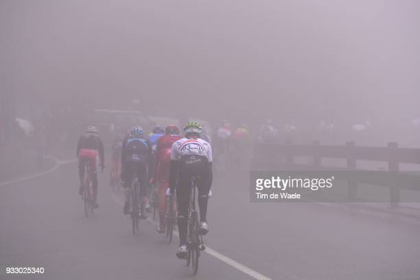 Stephen Cummings of Great Britain and Team Dimension Data / Passo del Turchino / Fog / during the 109th MilanSanremo 2018 a 291km race from Milan to...