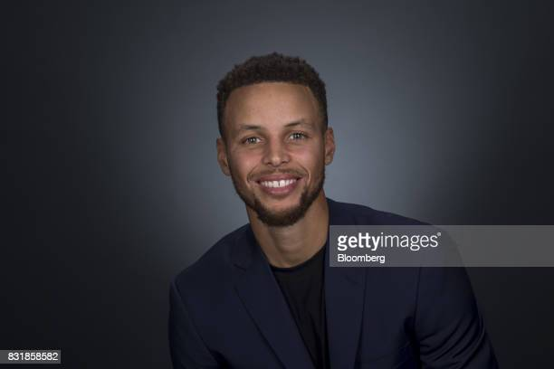 Stephen Curry a professional basketball player with the National Basketball Association's Golden State Warriors sits for a photograph following a...