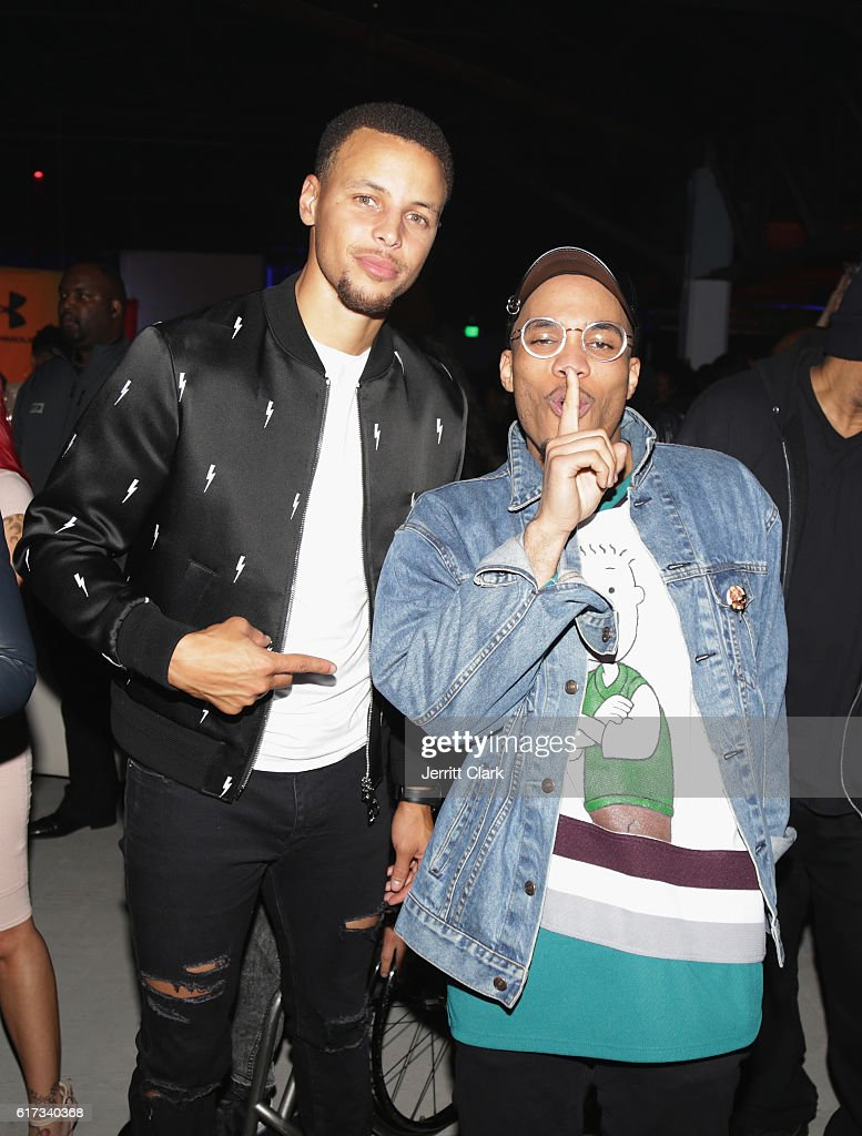 Stephen Curry and Anderson Paak attend the Under Armour Curry 3 Launch at Skylight Powerhouse on October 22, 2016 in the Bay Area, California.