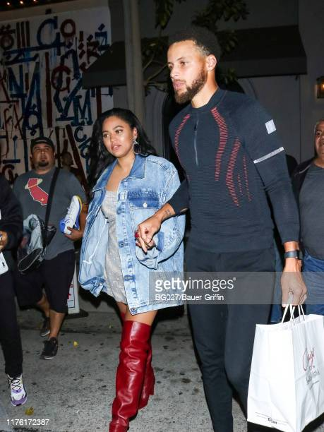 Stephen Curry and Ayesha Curry are seen on October 15, 2019 in Los Angeles, California.
