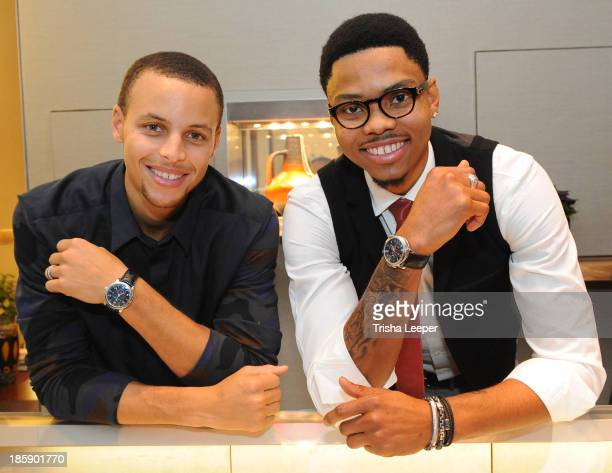 Stephen Curry and Kent Bazemore attend the David Yurman Launch of The Meteorite Collection With Kent Bazemore at Westfield Valley Fair on October 25...