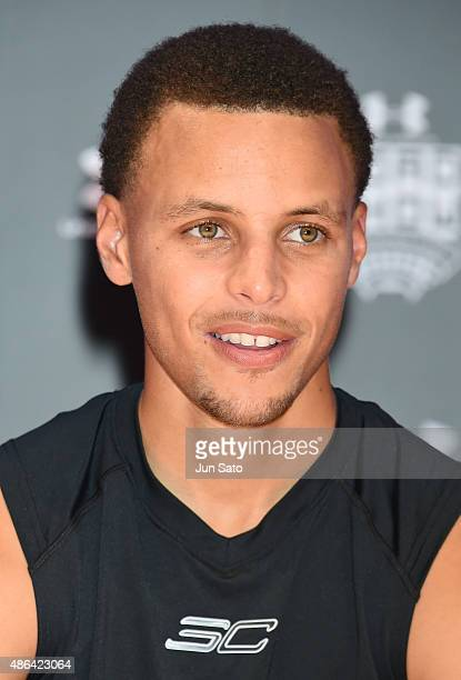 Stephen Curry attends the photocall for Under Armour Roadshow Featuring Stephen Curry on September 4 2015 in Tokyo Japan