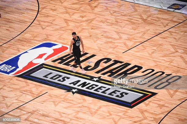 Stephen Curry of team Stephen stands at half court during the NBA AllStar Game as a part of 2018 NBA AllStar Weekend at STAPLES Center on February 18...