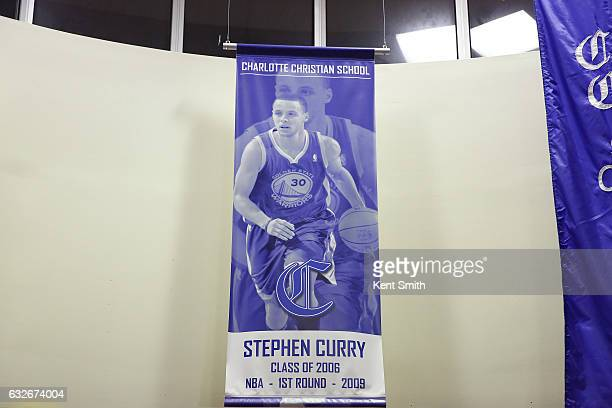 Stephen Curry of the Golden State Warriors attends his jersey retirement  ceremony at Charlotte Christian School 0040f8cd8