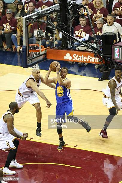 Stephen Curry of the Golden State Warriors drives to the basket against the Cleveland Cavaliers in Game Three of the 2016 NBA Finals on June 8 2016...