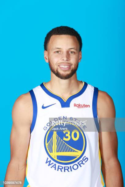 Stephen Curry of the Golden State Warriors during Media Day on September 24 2018 at the Warriors Practice Facility in Oakland California NOTE TO USER...