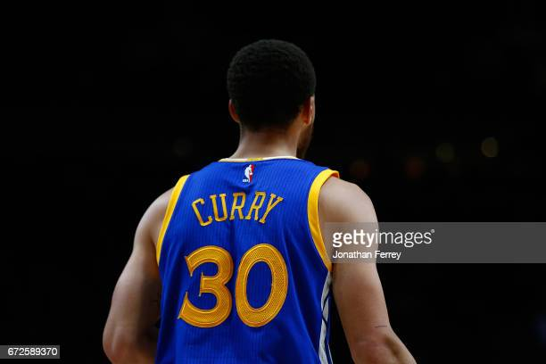 Stephen Curry of the Golden State Warriors during the game against the Portland Trail Blazers during Game Three of the Western Conference...