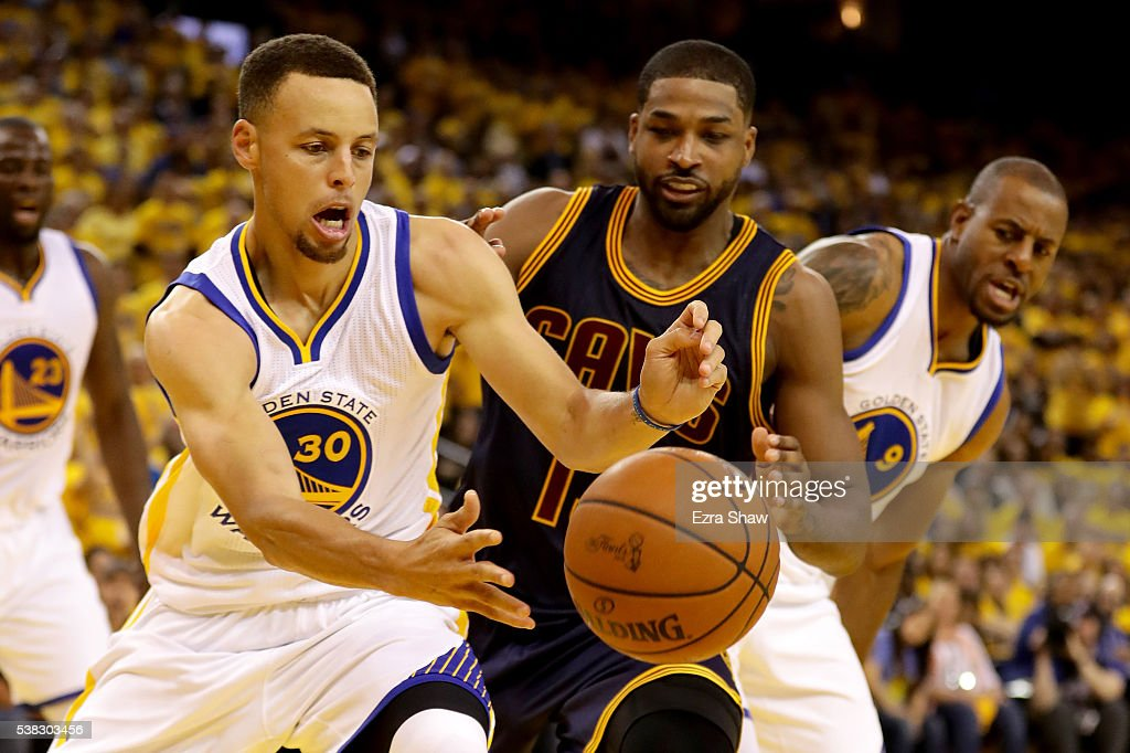 Stephen Curry #30 of the Golden State Warriors goes after a loose ball in Game 2 of the 2016 NBA Finals against the Cleveland Cavaliers at ORACLE Arena on June 5, 2016 in Oakland, California.