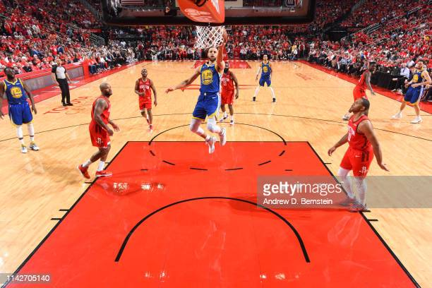 Stephen Curry of the Golden State Warriors goes to the basket against the Houston Rockets during Game Six of the Western Conference Semifinals of the...