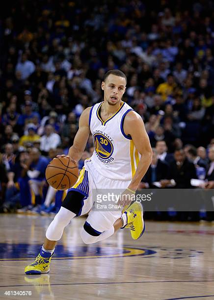 Stephen Curry of the Golden State Warriors in action against the Indiana Pacers at ORACLE Arena on January 7 2015 in Oakland California NOTE TO USER...