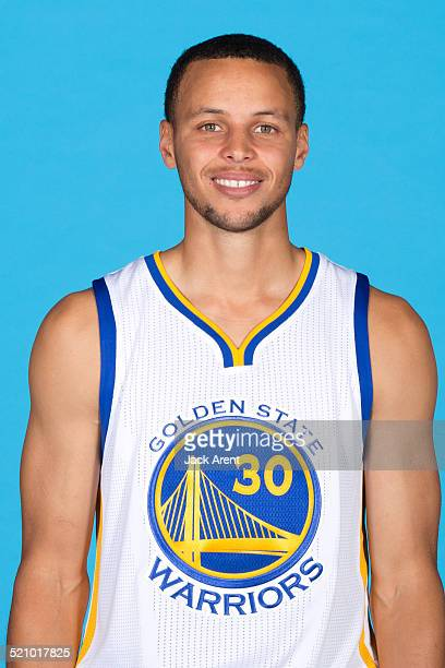 Stephen Curry of the Golden State Warriors poses for a photo during Media Day on September 29, 2014 at the Warriors practice facility in Oakland,...