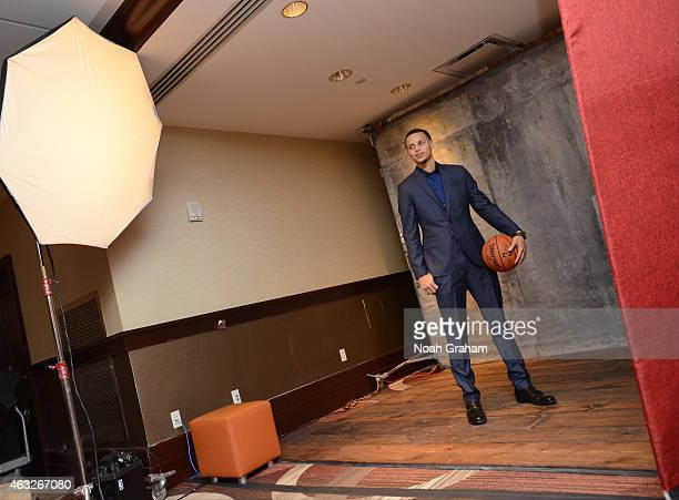 Stephen Curry of the Golden State Warriors poses for a portrait during the NBAE Circuit on February 12 2015 at the Sheraton Times Square in New York...
