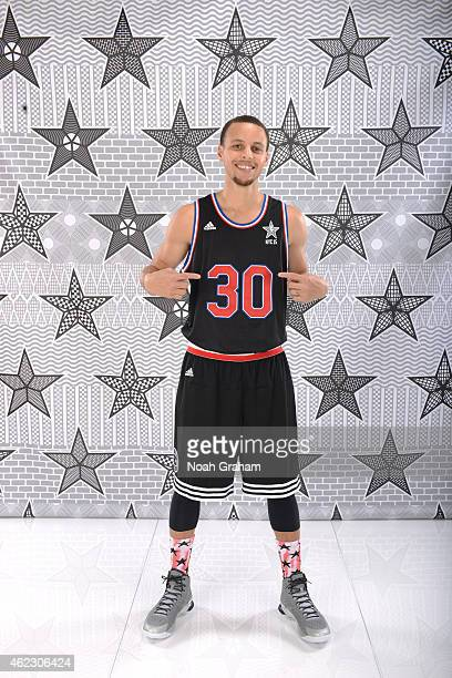 Stephen Curry of the Golden State Warriors poses for an All Star portrait on January 26 2015 at the Warriors practice facility in Oakland California...
