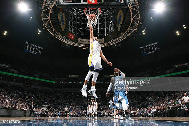 Stephen Curry of the Golden State Warriors shoots a lay up during the game against the Minnesota Timberwolves on December 11 2016 at Target Center in...