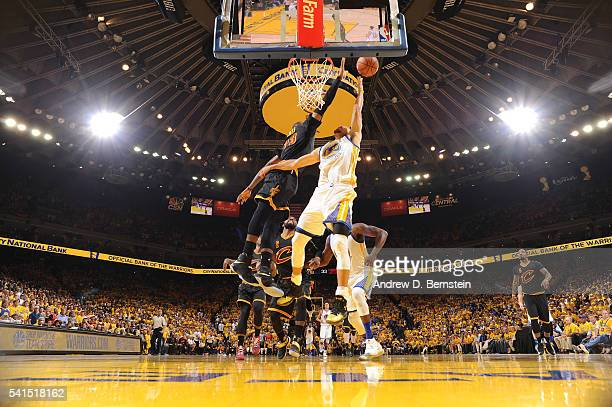 Stephen Curry of the Golden State Warriors shoots the ball against LeBron James of the Cleveland Cavaliers in Game Seven of the 2016 NBA Finals on...