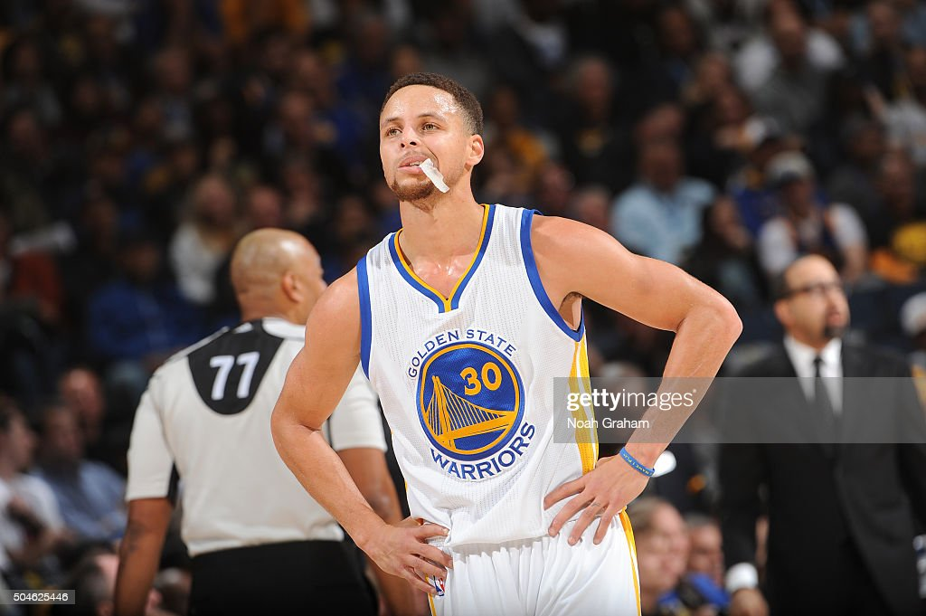 online retailer 7388c 9b4d2 Stephen Curry of the Golden State Warriors while facing the ...