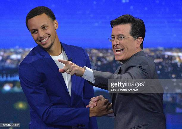 Stephen Curry on The Late Show with Stephen Colbert, Monday Sept. 21, 2015 on the CBS Television Network.