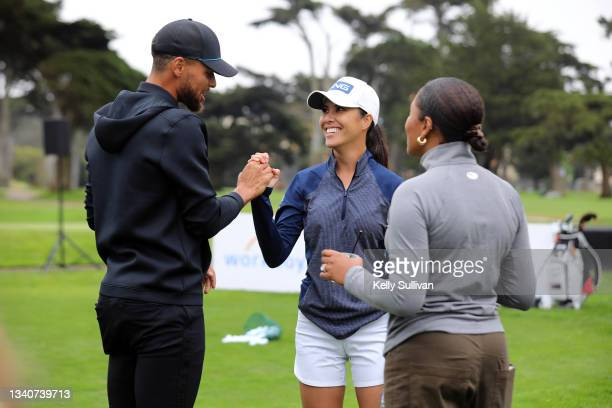 Stephen Curry, Tania Tare, and Ayesha Curry attend The Workday Charity Classic, hosted by Stephen and Ayesha Curry's Eat. Learn. Play. And Workday,...