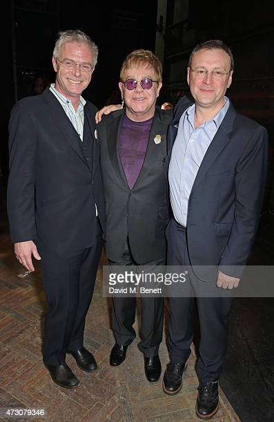 """Stephen Daldry, Sir Elton John and Lee Hall attend as """"Billy Elliot The Musical"""" celebrates its 10th Anniversary in London's West End at the Victoria..."""