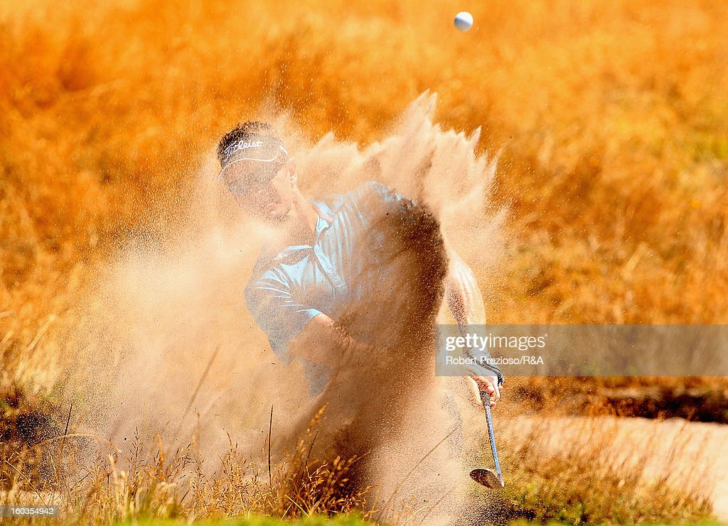 Stephen Dartnall of Australia plays a shot on the 12th hole during day two of the British Open International Final Qualifying Australasia at Kingston Heath Golf Club on January 30, 2013 in Melbourne, Australia.
