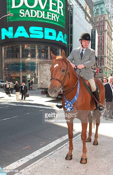 Mayor Michael Bloomberg And Daughter Georgina Ring In The