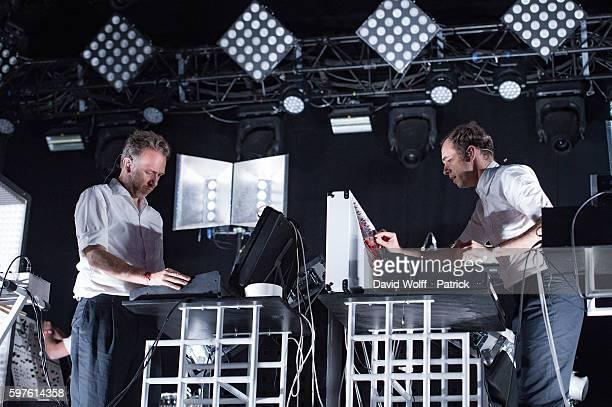 Stephen Dewaele and David Dewaele from Soulwas perform at Rock en Seine on August 28 2016 in Paris France