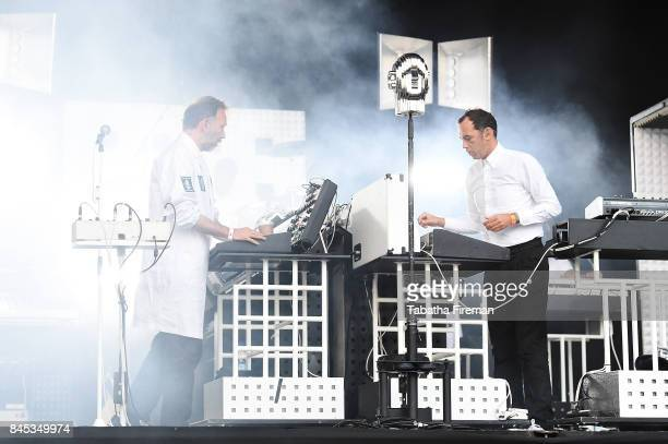 Stephen Dewaele and David Dewaele of Soul Wax perform on The Castle stage on Day 4 of Bestival at Lulworth Castle on September 10 2017 in Wareham...