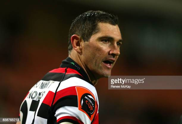 Stephen Donald of Counties during the round two Mitre 10 Cup match between Waikato and Counties Manuka at FMG Stadium on August 25 2017 in Hamilton...