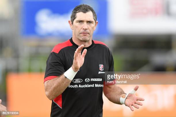 Stephen Donald of Counties Manukau before the round six Mitre 10 Cup match between Bay of Plenty and Counties Manukau Tauranga Domain on September 24...