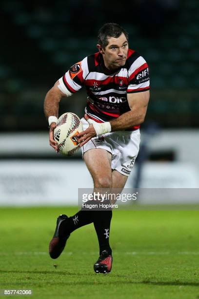 Stephen Donald of Counties Manukau in action during the round eight Mitre 10 Cup match between Manawatu and Counties Manukau at Central Energy Trust...