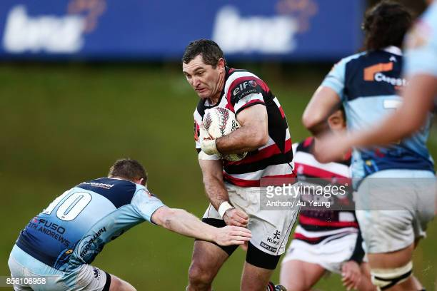 Stephen Donald of Counties Manukau on the charge during the round seven Mitre 10 Cup match between Counties Manukau and Northland at ECOLight Stadium...