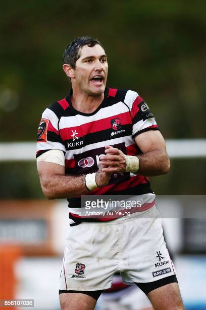 Stephen Donald of Counties Manukau reacts during the round seven Mitre 10 Cup match between Counties Manukau and Northland at ECOLight Stadium on...