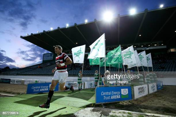 Stephen Donald of Counties Manukau takes the field during the round eight Mitre 10 Cup match between Manawatu and Counties Manukau at Central Energy...
