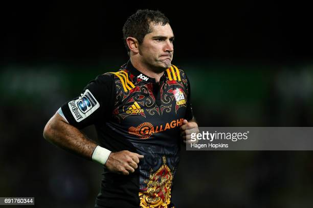 Stephen Donald of the Chiefs leaves the field in his 100th game for the Chiefs during the round 15 Super Rugby match between the Chiefs and the...