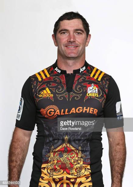 Stephen Donald poses during a Chiefs Super Rugby headshots session on February 1 2017 in Hamilton New Zealand
