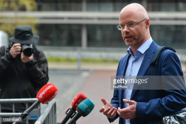 Stephen Donnelly, Ireland's Minister of Health, speaks to the media ahead todays cabinet meeting at Dublin Castle. On Friday, 28 May 2021, in Dublin,...