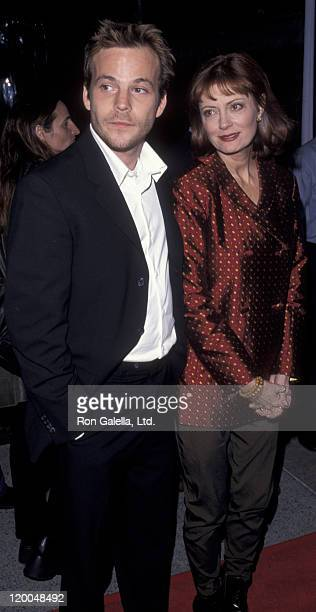 Stephen Dorff and actress Susan Sarandon attend the screening of Earthly Possessions on March 14 1999 at Paramount Studios in Los Angeles California