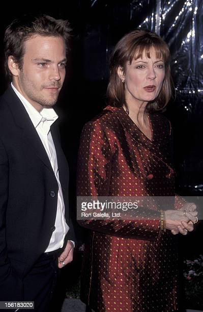Stephen Dorff and actress Susan Sarandon attend the screening of 'Earthly Possessions' on March 14 1999 at Paramount Studios in Los Angeles California