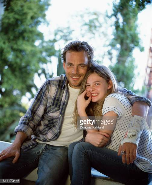 Stephen Dorff and Elle Fanning photographed on the set of Somewhere a film by Sofia Coppola