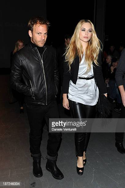 Stephen Dorff and Emanuela Postacchini attend the Diesel Black Gold fashion show as part of Milan Fashion Week Menswear Autumn/Winter 2012 on January...