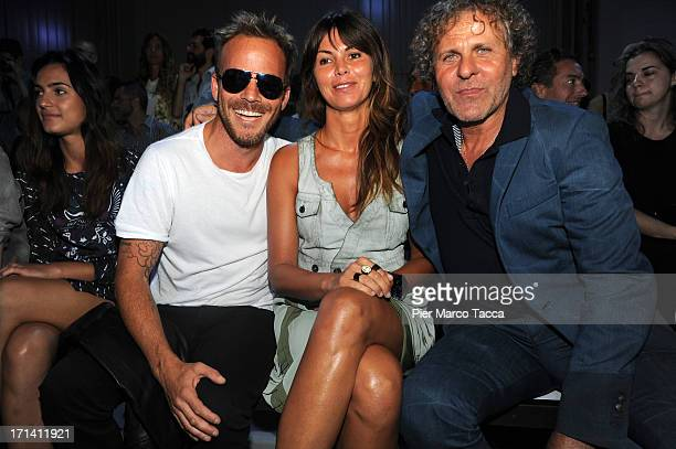 Stephen Dorff Arianna Alessi and Renzo Rosso attend Diesel Black Gold show during Milan Menswear Fashion Week Spring Summer 2014 on June 24 2013 in...