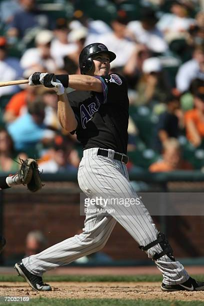 Stephen Drew of the Arizona Diamondbacks bats during the game against the San Francisco Giants at ATT Park in San Francisco California on September...