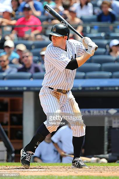 Stephen Drew of the New York Yankees in action against the Detroit Tigers at Yankee Stadium on June 21 2015 in the Bronx borough of New York City...