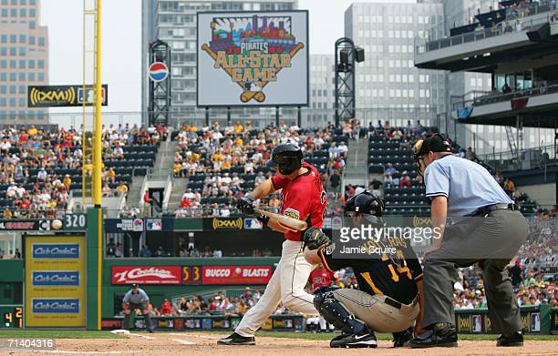 Stephen Drew of the U.S.A. Team bats against the World Team during the XM Satellite Radio All-Star Futures Game at PNC Park on July 9, 2006 in...